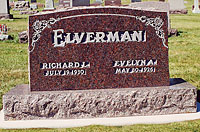 Floral engraved granite memorial